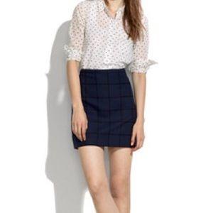Madewell Courtyard Navy Blue Skirt